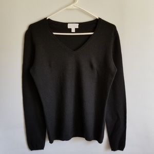 Charter Club Sweater 100% Cashmere Black Small